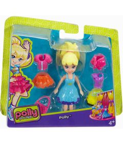 Boneca-Polly-Pocket-Super-Fashion---Polly-com-Vestido-Azul---Mattel