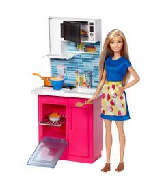 Boneca-Barbie-Articulada---Barbie-com-Moveis-e-Acessorios---Barbie-na-Cozinha---Mattel