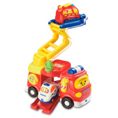 Veiculo-de-Atividades---Toot-Toot-Drivers---Super-Caminhao-de-Bombeiros-com-Carrinho---Vtech-Baby