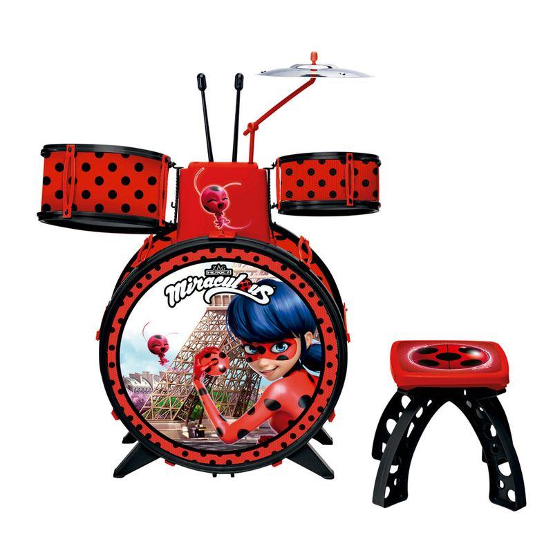 Bateria Infantil Miraculous Ladybug Fun Ri Happy Brinquedos