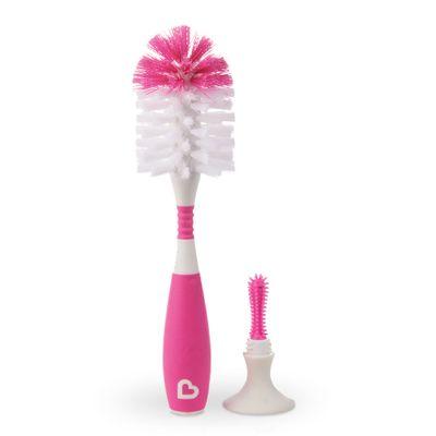 Escova-para-Mamadeiras-com-Ventosas-e-Cabo-Flexivel---Rosa---Munchkin