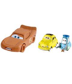 Carrinho-Die-Cast---Pack-com-2-Veiculos---Disney---Pixar---Cars-3---Lightning-McQueen-Chester-Whipplefilter-Com-Luigi-e-Guido---Mattel