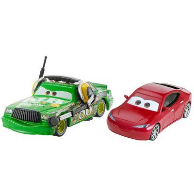 Carrinho-Die-Cast---Pack-com-2-Veiculos---Disney---Pixar---Cars-3---Natalie-Certain-e-Chick-Hicks-With-headset---Mattel