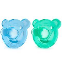 Chupeta-de-Silicone-Para-Recem-Nascidos---0-a-3-Meses---Pack-com-2-Un---Azul-e-Verde---Philips-Avent