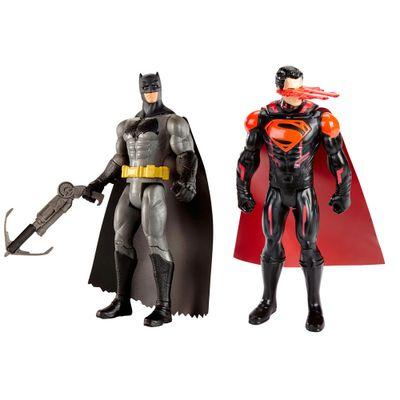 Kit-de-Figuras-Articuladas---16-Cm---DC-Comics---Batman-Vs-Superman---Batman-com-Arpel-e-Superman---Mattel