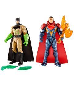 Kit-de-Figuras-Articuladas---16-Cm---DC-Comics---Batman-Vs-Superman---Batman-com-Luvas-de-Kriptonita-e-Superman-com-Armadura---Mattel