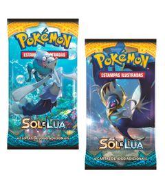 Kit-Cards-Pokemon---Sol-e-Lua---Blister-Unitario---Lunala-e-Primarina---Copag