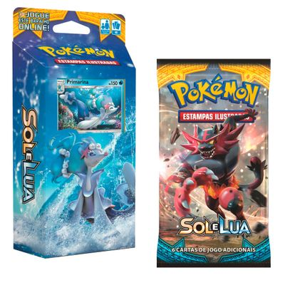 Kit-Cards-Pokemon---Sol-e-Lua---Starter-Deck-Mare-Brilhante-e-Blister-Unitario-Incineroar---Copag