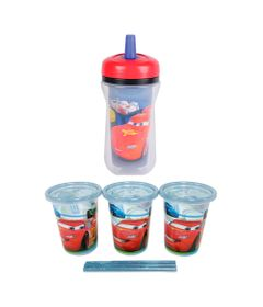 Kit-de-Copos-com-Canudo---300Ml---Disney---Carros---First-Years