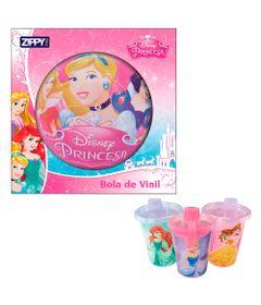 Kit-Disney---Princesas---3-Copos-com-Canudos-e-Bola-de-Vinil---Cinderela