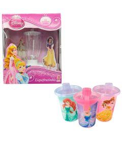 Kit-Disney---Princesas---3-Copos-com-Canudos-e-Liquidificador-Liquifrutinha---Branco