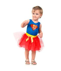 Fantasia Bebê - Dress Up - DC Comics - Liga da Justiça - Supergirl - Sulamericana