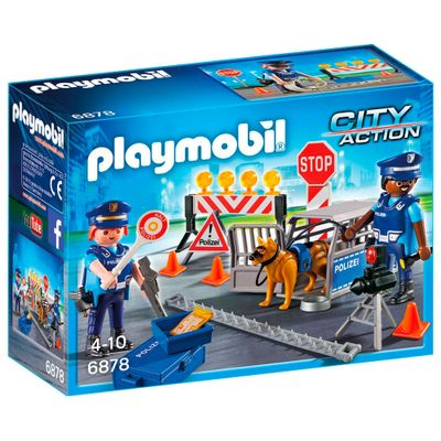 Playmobil---City-Action---Playset-e-Mini-Figuras---Bloqueio-Policial---6878---Sunny