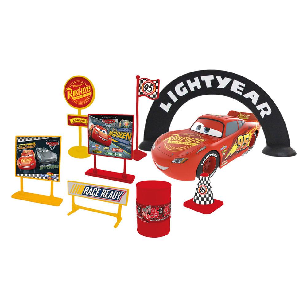 Playset de Corrida - Relâmpago McQueen - Carros 3 - Disney - Toyng