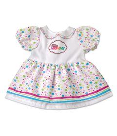 Vestido-de-Passeio-com-Bolinhas-para-Boneca-Little-Mommy---Laco-de-Fita