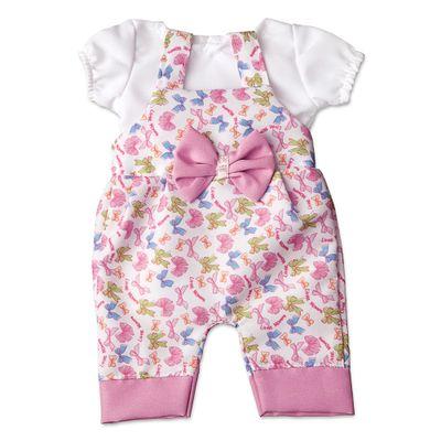 Jardineira-com-Lacinhos-para-Boneca-Little-Mommy---Laco-de-Fita