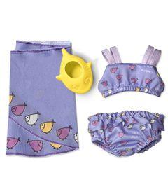 Conjuntinho-de-Praia-com-Peixinhos-para-Boneca-Little-Mommy---Laco-de-Fita