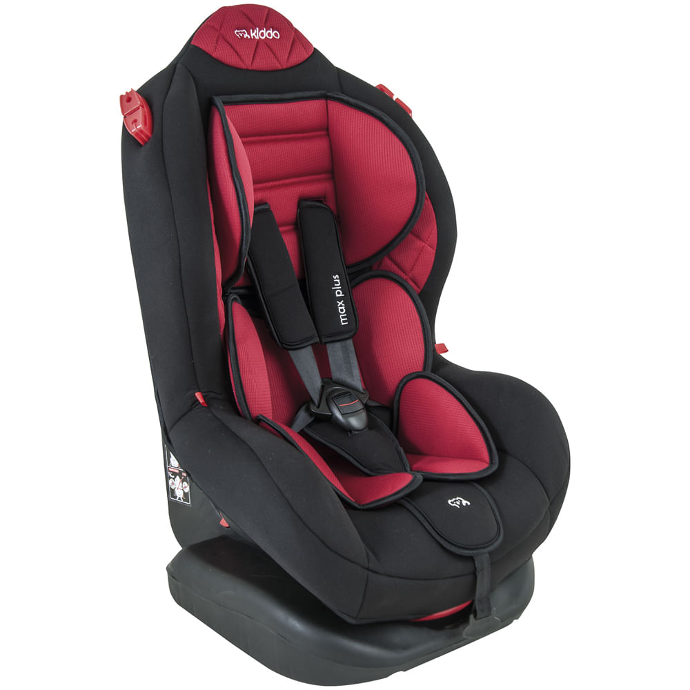 Cadeira Para Auto - De 0 a 25 Kg - Max Plus - Preto e Vermelho - Kiddo
