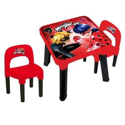 Kit-Conjunto-de-Mesinha-e-Cadeiras---Miraculous---Ladybug---Fun