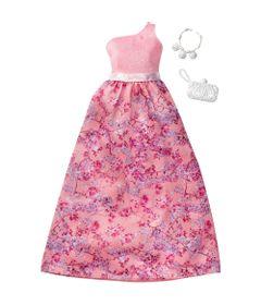 Roupinha-para-Boneca-Barbie---Look-Completo---Vestido-de-Um-Ombro-com-Saia-Floral----Mattel