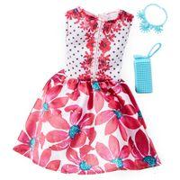 Roupinha-para-Boneca-Barbie---Look-Completo---Vestido-Rosa-Floral---Mattel