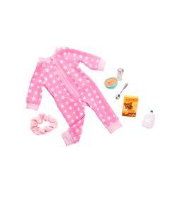 Conjunto-Roupas-para-Bonecas---Our-Generation---Pijama-de-Estrelinha-e-Cereais