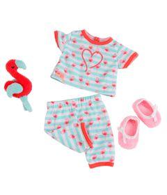 Conjunto-Roupas-para-Bonecas---Our-Generation---Pijama-de-Flamingo
