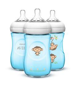 Pack-com-3-Mamadeiras-Petala---260-Ml---Azul---Philips-Avent