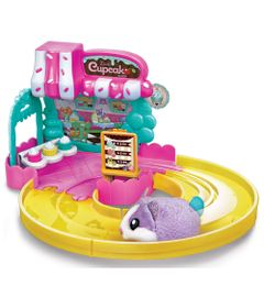 Playset-e-Mini-Figura---Hamster-In-a-House---Cupcake-Bakery---Candide
