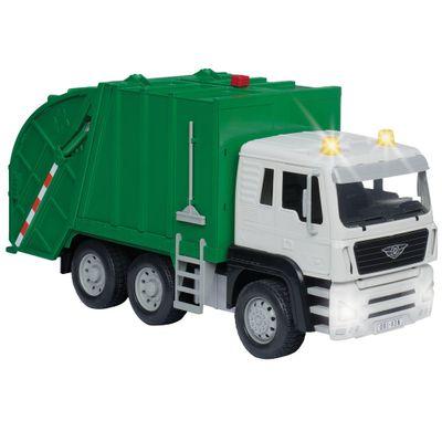 Veiculo-com-Luzes-e-Sons---Driven---Caminhao-de-Lixo---Verde---Candide