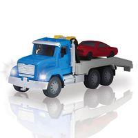 Veiculo-com-Luzes-e-Sons---Micro-Series---Driven---Caminhao-Reboque-Azul-com-Carrinho-Vermelho---Candide