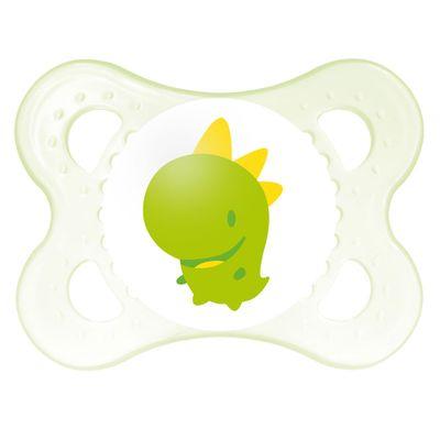 Chupeta-Ortodontica---Silk-Touch---Original---Boys---0-a-6-Meses---Dino-Verde---MAM
