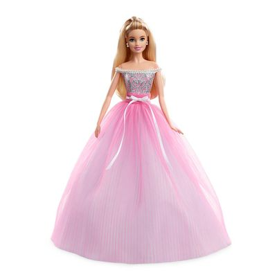 Boneca-Barbie-Colecionavel---Barbie-com-Vestido-de-Aniversario---Mattel