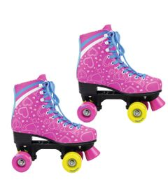 Patins-Quad-Roller---Heart---Pink---TAM-32---DTC