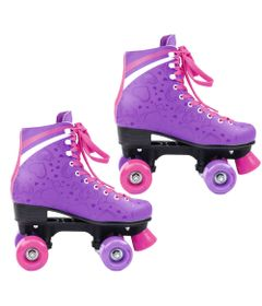 Patins-Quad-Roller---Heart---Roxo---TAM-34---DTC