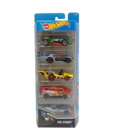 Carrinhos-Hot-Wheels---Pacote-com-5-Carros---Fan-Stands---Mattel