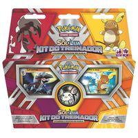 Deck-Pokemon---Kit-do-Treinador---Pokemon-Sol-e-Lua---Lycanroc-e-Raichu-de-Alola---Copag