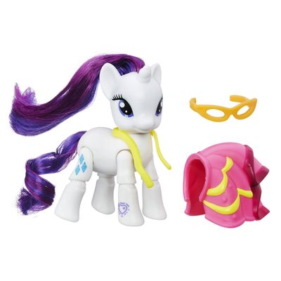 Mini-Figura-Articulada---My-Little-Pony-Explore-Equestria---Rarity-Costurando---Hasbro