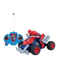 Veiculo-de-Controle-Remoto-e-Figura---Disney---Marvel---Spider-Man---Web-Tracker---Candide