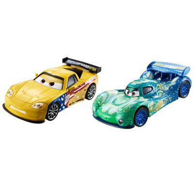 Veiculos-Hot-Wheels---Disney-Cars-2---Pack-com-2-Veiculos---Jeff-Gorvette-e-Carla-Veloso---Mattel