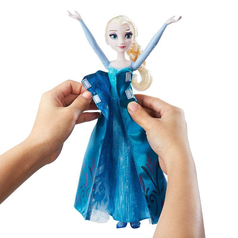 Boneca Elsa Frozen Vestido Duplo Disney Hasbro