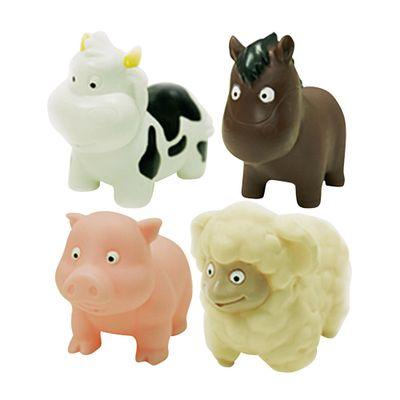 Kit-Amiguinhos-do-Banho-com-6---Animais-da-Fazenda---Soft-Baby---Yes-Toys