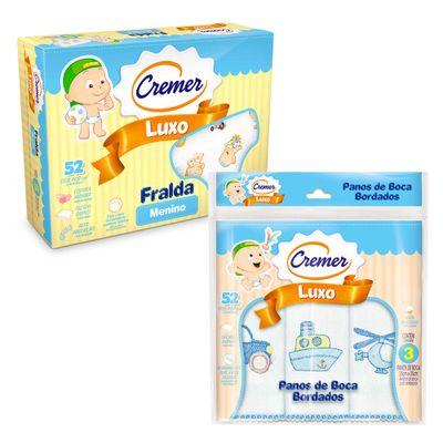 Kit-de-Acessorios-Baby-com-Fralda-de-Luxo-e-Paninho-de-Boca---Meninos---Cremer