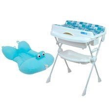 Kit-de-Banheira-com-Trocador---Splash-e-Almofada-Baby-Pil---Azul