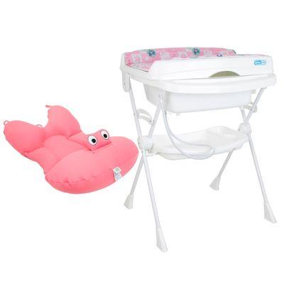 Kit-de-Banheira-com-Trocador---Splash-e-Almofada-Baby-Pil---Rosa