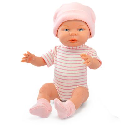 Boneca-Bebe-e-Acessorios---45-Cm---Engorda-Bebe---Boneca-com-Body-Listrado---Roma