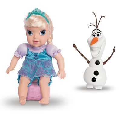 Conjunto-de-Bonecas---30-Cm---Disney---Frozen---Elsa-e-Olaf---Mimo