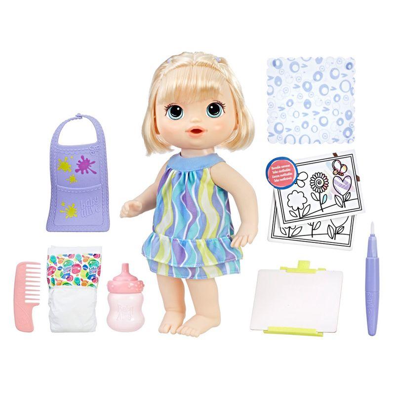 2c623bf6c1 Boneca Baby Alive - 30 cm - Loira - Pequena Artista - C0960 - Hasbro - Ri  Happy Brinquedos
