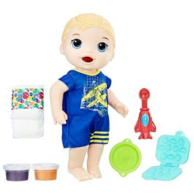Boneco Baby Alive Menino 30 Cm Loiro Lanchinhos