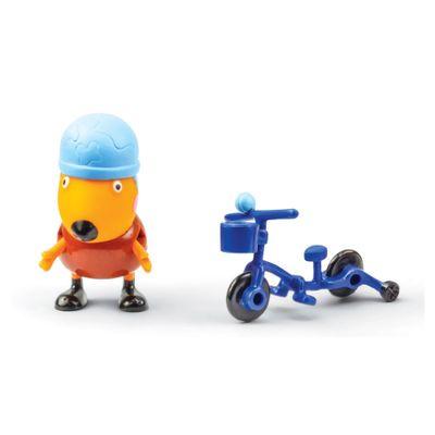 Figura-com-Acessorio---10-cm---Peppa-Pig---Freddy-Raposo-com-Bicicleta---DTC